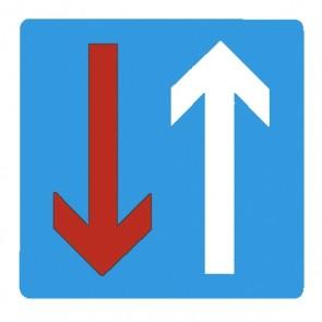 Verkehrsschild: Vorrang vor dem Gegenverkehr