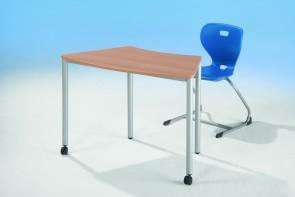 Achtelkreis-Tisch mit Vollkerntischplatte