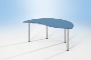 Halbrund- Wellentisch mit Vollkerntischplatte