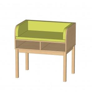 Wickeltisch mit Holzgestell